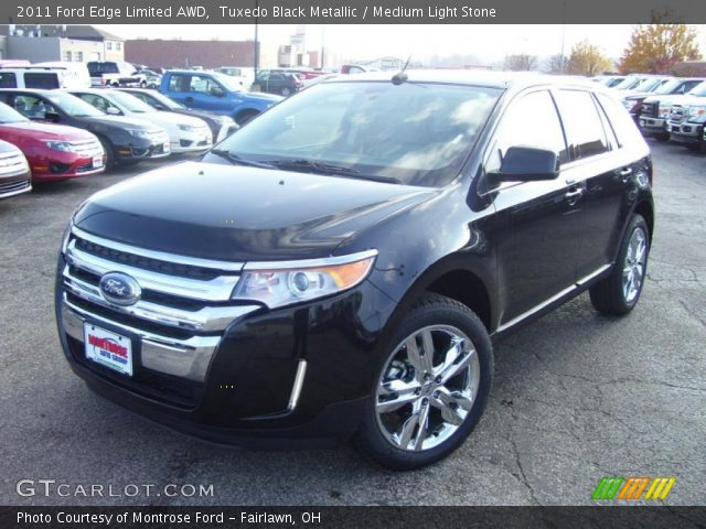 tuxedo black metallic 2011 ford edge limited awd medium light stone interior. Black Bedroom Furniture Sets. Home Design Ideas