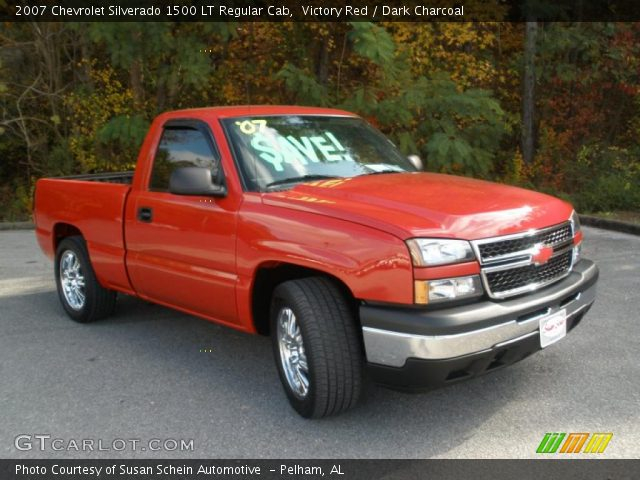 victory red 2007 chevrolet silverado 1500 lt regular cab dark charcoal interior gtcarlot. Black Bedroom Furniture Sets. Home Design Ideas