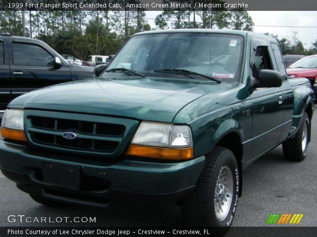 amazon green metallic 1999 ford ranger sport extended cab medium graphite interior. Black Bedroom Furniture Sets. Home Design Ideas