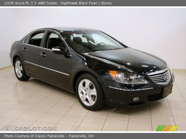 nighthawk black pearl 2008 acura rl 3 5 awd sedan ebony interior vehicle. Black Bedroom Furniture Sets. Home Design Ideas