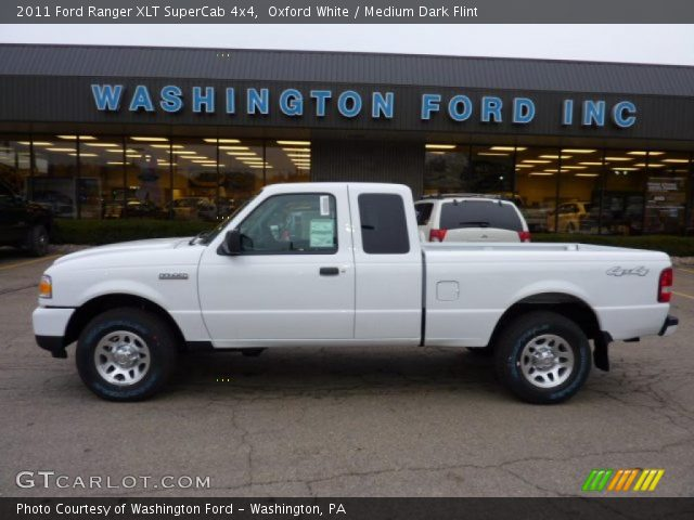 oxford white 2011 ford ranger xlt supercab 4x4 medium. Black Bedroom Furniture Sets. Home Design Ideas