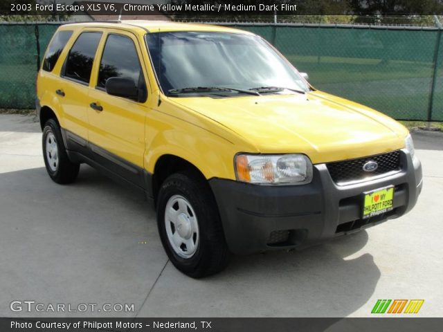 2003 Ford Escape XLS V6 in Chrome Yellow Metallic. Click to see large