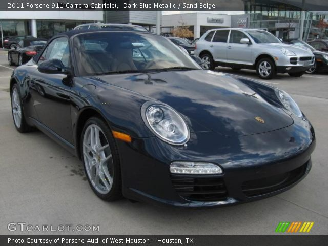 2011 Porsche 911 Carrera Cabriolet in Dark Blue Metallic