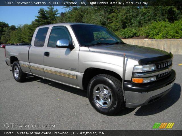 Light Pewter Metallic 2002 Chevrolet Silverado 1500 Ls Extended Cab Medium Gray Interior