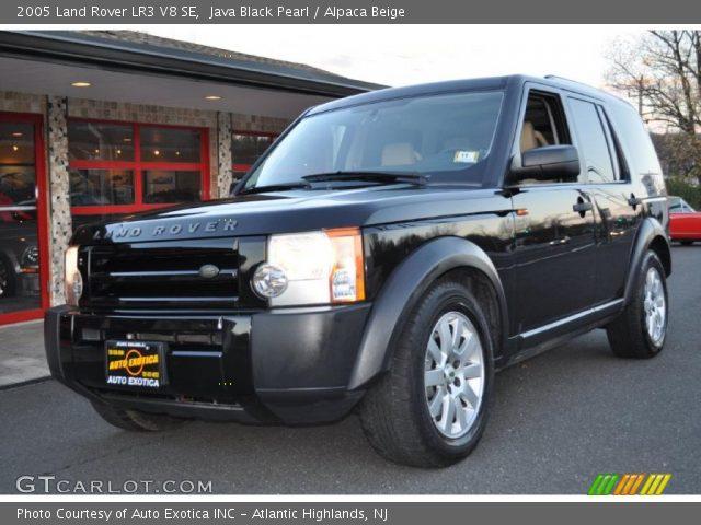 java black pearl 2005 land rover lr3 v8 se alpaca beige interior vehicle. Black Bedroom Furniture Sets. Home Design Ideas