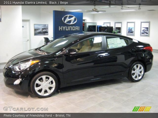 2011 Hyundai Elantra Limited in Black