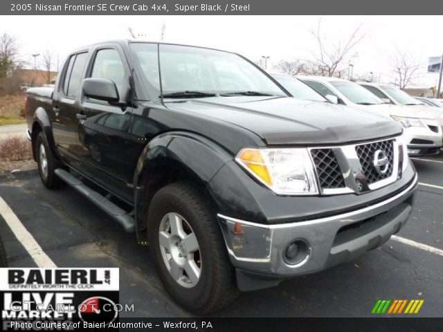 super black 2005 nissan frontier se crew cab 4x4 steel. Black Bedroom Furniture Sets. Home Design Ideas