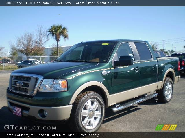 forest green metallic 2008 ford f150 king ranch supercrew tan interior. Black Bedroom Furniture Sets. Home Design Ideas