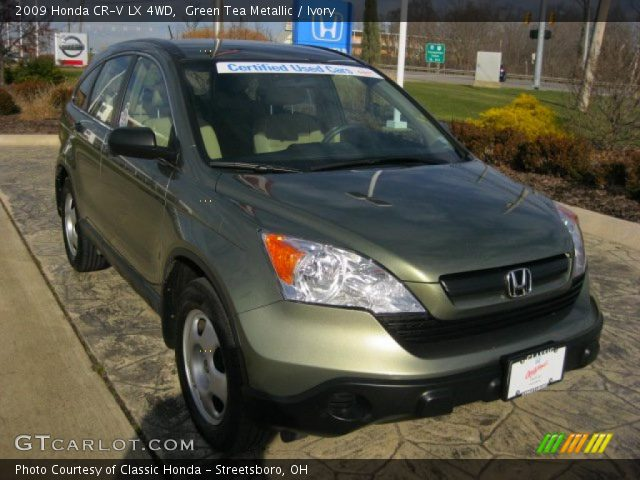 green tea metallic 2009 honda cr v lx 4wd ivory interior vehicle archive. Black Bedroom Furniture Sets. Home Design Ideas
