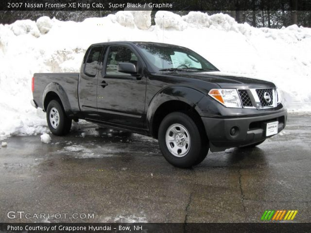 super black 2007 nissan frontier xe king cab graphite interior vehicle. Black Bedroom Furniture Sets. Home Design Ideas