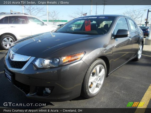 grigio metallic 2010 acura tsx sedan ebony interior. Black Bedroom Furniture Sets. Home Design Ideas