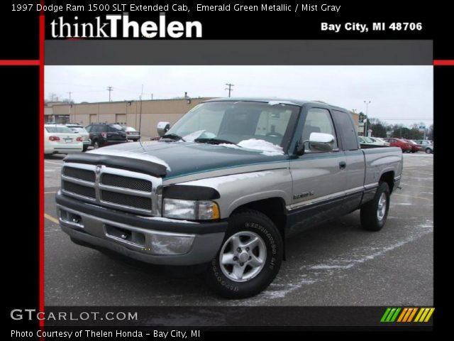 emerald green metallic 1997 dodge ram 1500 slt extended cab mist gray interior gtcarlot. Black Bedroom Furniture Sets. Home Design Ideas