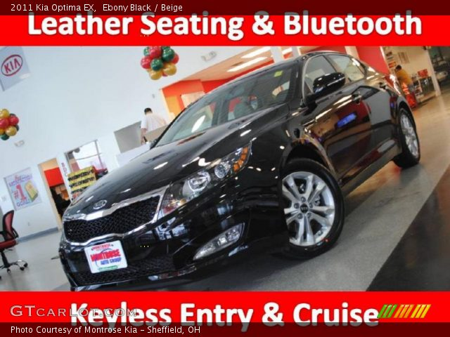2011 Kia Optima EX in Ebony Black
