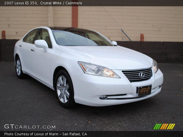 crystal white 2007 lexus es 350 cashmere interior. Black Bedroom Furniture Sets. Home Design Ideas