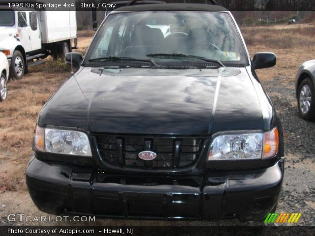black 1998 kia sportage 4x4 gray interior vehicle archive 40961938. Black Bedroom Furniture Sets. Home Design Ideas