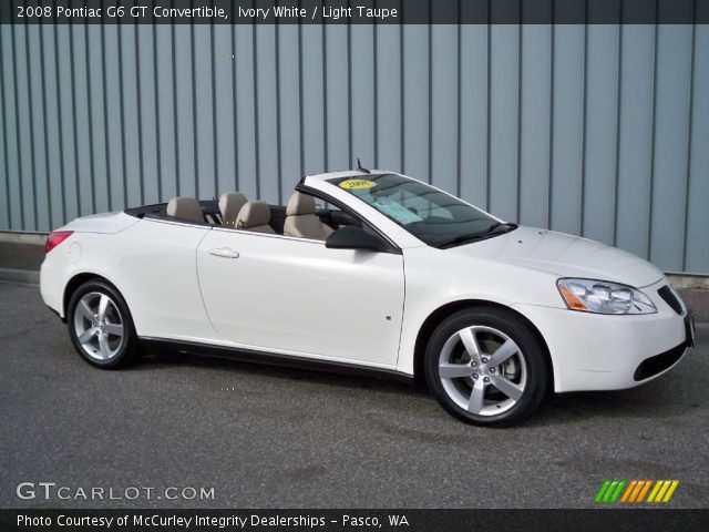 Ivory White 2008 Pontiac G6 Gt Convertible Light Taupe