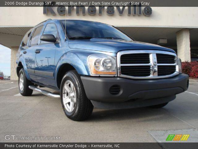 Atlantic Blue Pearl 2006 Dodge Durango Sxt Dark Slate