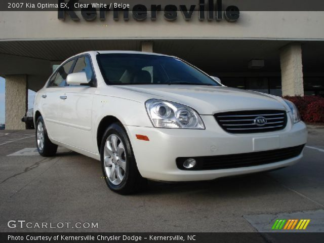 Clear White - 2007 Kia Optima EX - Beige Interior | GTCarLot.com ...