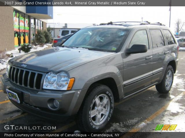 mineral gray metallic 2007 jeep grand cherokee laredo 4x4 medium slate gray interior. Black Bedroom Furniture Sets. Home Design Ideas
