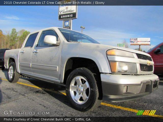 silver birch metallic 2010 chevrolet colorado lt crew cab ebony interior. Black Bedroom Furniture Sets. Home Design Ideas