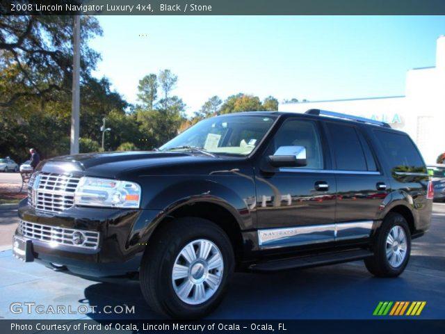 Black 2008 Lincoln Navigator Luxury 4x4 Stone Interior Vehicle Archive