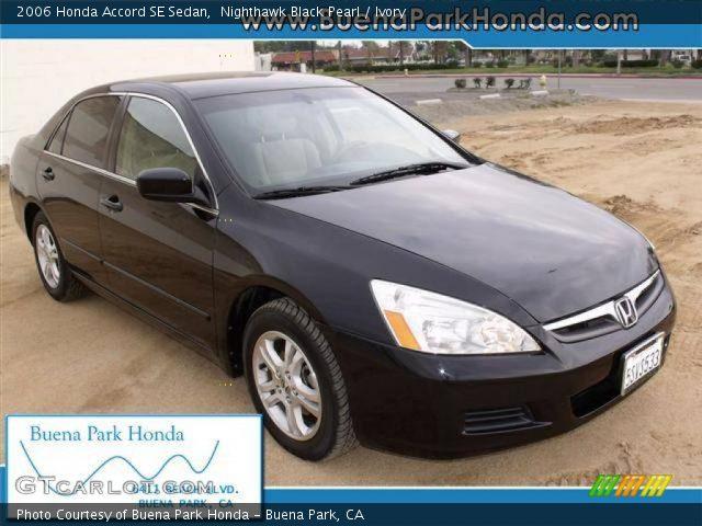 2006 Honda Accord SE Sedan in Nighthawk Black Pearl