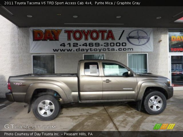 pyrite mica 2011 toyota tacoma v6 trd sport access cab 4x4 graphite gray interior gtcarlot. Black Bedroom Furniture Sets. Home Design Ideas