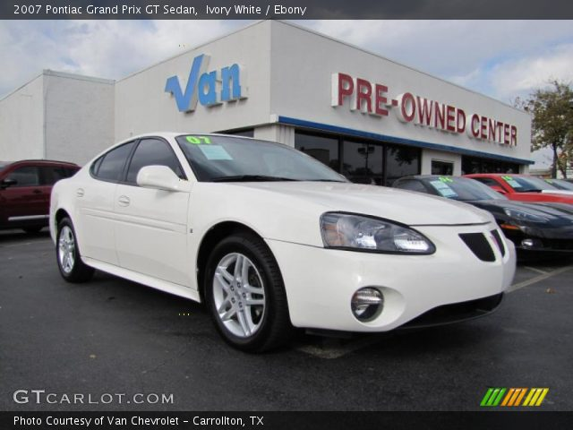 ivory white 2007 pontiac grand prix gt sedan ebony interior vehicle archive. Black Bedroom Furniture Sets. Home Design Ideas