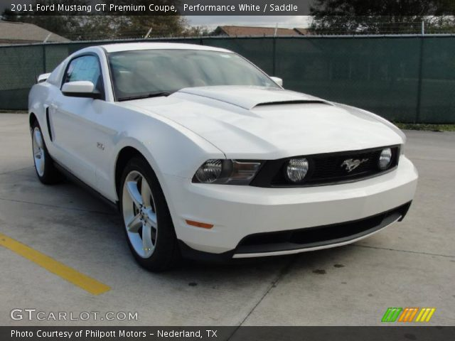 performance white 2011 ford mustang gt premium coupe saddle interior. Black Bedroom Furniture Sets. Home Design Ideas