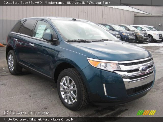 mediterranean blue metallic 2011 ford edge sel awd. Black Bedroom Furniture Sets. Home Design Ideas