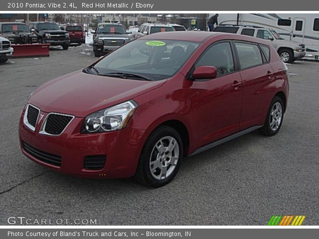 2010 Pontiac Vibe 2.4L in Red Hot Metallic