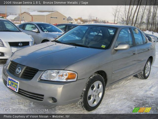 bronze shimmer metallic 2006 nissan sentra 1 8 s sage interior vehicle. Black Bedroom Furniture Sets. Home Design Ideas