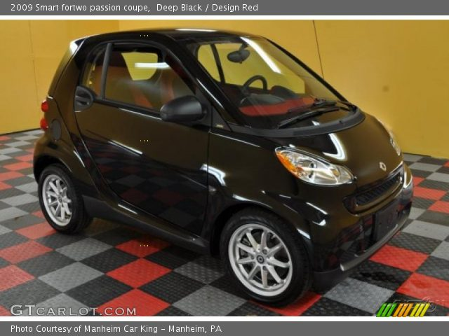 deep black 2009 smart fortwo passion coupe design red interior vehicle. Black Bedroom Furniture Sets. Home Design Ideas