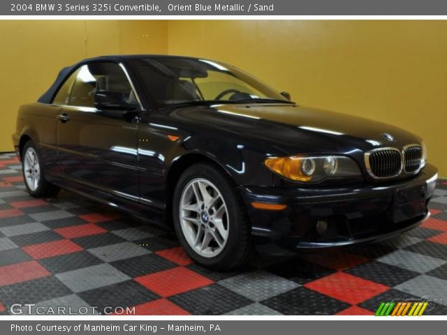 2004 BMW 3 Series 325i Convertible in Orient Blue Metallic
