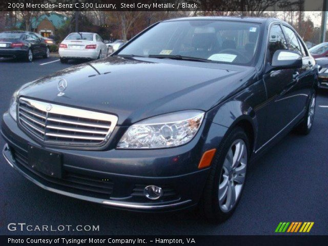 Steel grey metallic 2009 mercedes benz c 300 luxury for 2009 mercedes benz c 300
