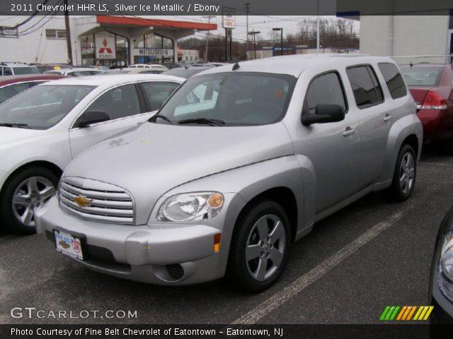 Silver Ice Metallic 2011 Chevrolet Hhr Ls Ebony Interior