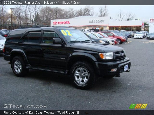 black 2002 toyota 4runner sport edition 4x4 gray interior vehicle archive. Black Bedroom Furniture Sets. Home Design Ideas