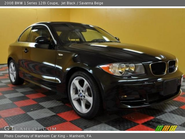 2008 BMW 1 Series 128i Coupe in Jet Black