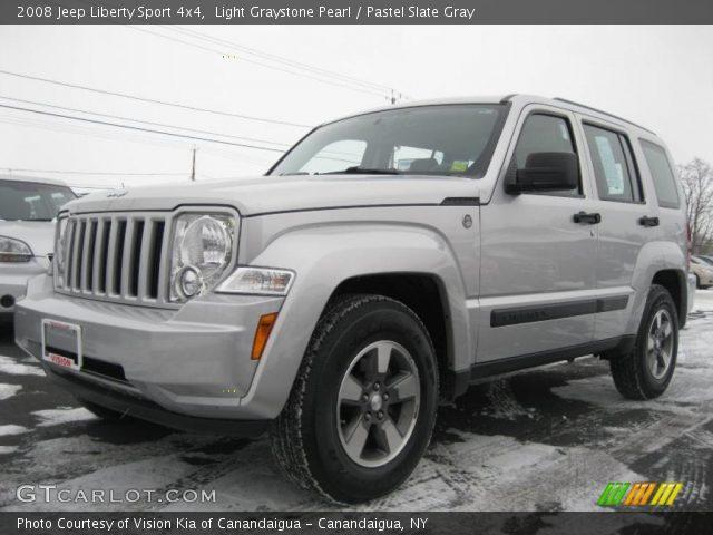 Light Graystone Pearl 2008 Jeep Liberty Sport 4x4 Pastel Slate Gray Interior