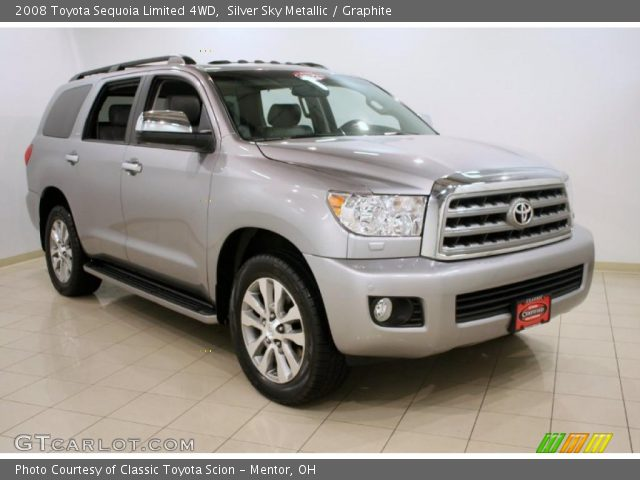 silver sky metallic 2008 toyota sequoia limited 4wd. Black Bedroom Furniture Sets. Home Design Ideas