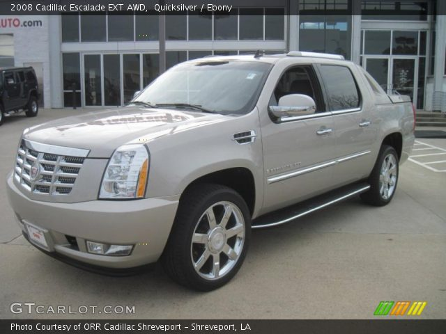 quicksilver 2008 cadillac escalade ext awd ebony interior vehicle archive. Black Bedroom Furniture Sets. Home Design Ideas