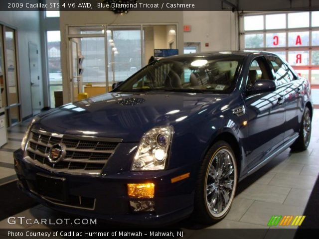 2009 Cadillac STS 4 V6 AWD in Blue Diamond Tricoat