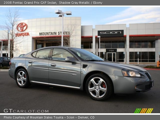 shadow gray metallic 2008 pontiac grand prix gxp sedan ebony interior. Black Bedroom Furniture Sets. Home Design Ideas