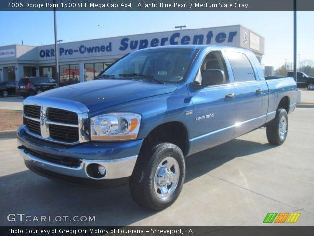 Atlantic Blue Pearl 2006 Dodge Ram 1500 Slt Mega Cab 4x4 Medium Slate Gray Interior