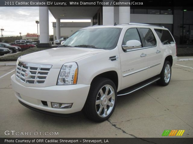 white diamond tricoat 2011 cadillac escalade esv luxury. Black Bedroom Furniture Sets. Home Design Ideas