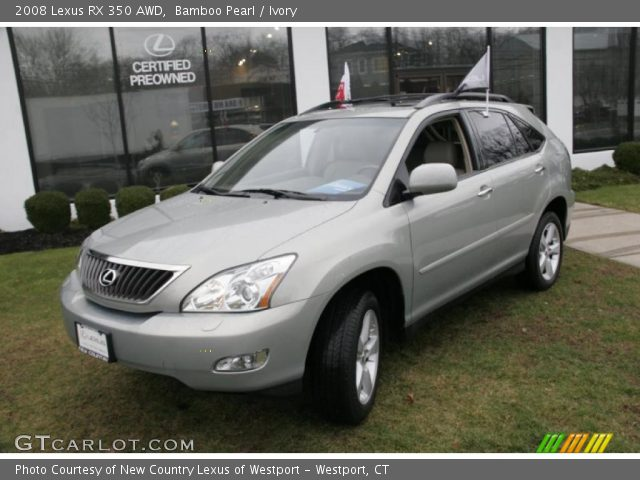 bamboo pearl 2008 lexus rx 350 awd ivory interior vehicle archive 41460265. Black Bedroom Furniture Sets. Home Design Ideas