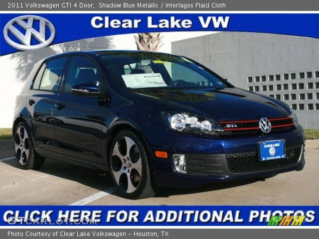Volkswagen Gti 2011 Interior. Shadow Blue Metallic 2011 Volkswagen GTI 4 Door with Interlagos Plaid Cloth interior 2011 Volkswagen GTI 4 Door in Shadow Blue Metallic