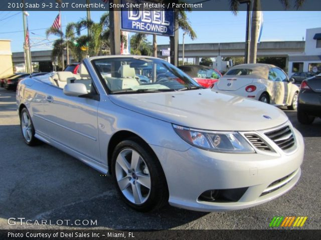 2010 Saab 9-3 2.0T Convertible in Snow Silver Metallic