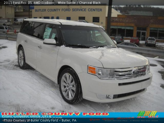 white suede 2011 ford flex sel awd ecoboost charcoal. Black Bedroom Furniture Sets. Home Design Ideas
