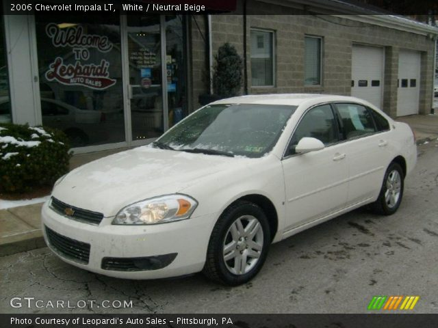 white 2006 chevrolet impala lt neutral beige interior. Black Bedroom Furniture Sets. Home Design Ideas